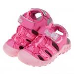 (16~20公分)粉紅豬小妹佩佩豬桃色越野兒童運動護趾涼鞋P#HD3NH*XGX