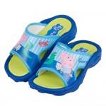 (16~18公分)粉紅豬小妹喬治與恐龍一起玩藍色兒童拖鞋R#BN3NBXBX