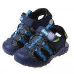 (15~18公分)粉紅豬小妹喬治豬藍色兒童透氣運動護趾涼鞋P#HD3NB*XBX