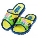 (16~18公分)粉紅豬小妹喬治與恐龍藍色兒童拖鞋