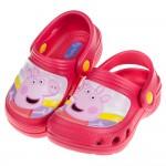 (15~20公分)粉紅豬小妹開心佩佩豬桃色兒童布希鞋
