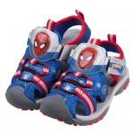 (16~20公分)Marvel蜘蛛人藍色兒童電燈護趾涼鞋P#HD3LB*XBX