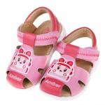 (13.5~15公分)POLI救援小英雄安寶粉紅色寶寶皮質護趾涼鞋R#HD3NG*GXX