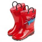 (17~22公分)Marvel蜘蛛人帥氣紅色提把兒童雨鞋R#AB3PA*XBB