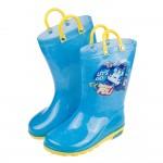 (16~21公分)POLI波力警車藍色提把兒童雨鞋R#AN3...