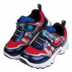 (17~22公分)Marvel蜘蛛人咻咻紅藍色兒童電燈運動鞋...