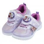 (16~20公分)Disney冰雪奇緣銀光紫色兒童電燈運動鞋...