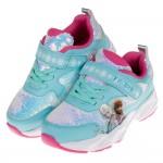 (16~20公分)Disney冰雪奇緣冰藍亮片湖水綠姊妹款兒童運動鞋