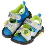 (15~19公分)玩具總動員抱抱龍銀色兒童電燈涼鞋