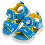 (15~19公分)POLI救援小英雄波力藍色全開兒童電燈涼鞋