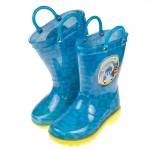 (16~21公分)POLI救援小英雄全員集合藍色提把兒童雨鞋