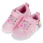 (15~20公分)Disney冰雪奇緣雪花粉色皮質兒童休閒鞋