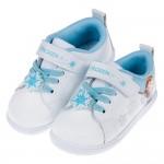 (15~20公分)Disney冰雪奇緣雪花白藍皮質兒童休閒鞋