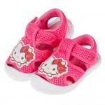 (13~16公分)HelloKitty凱蒂貓桃色透氣寶寶護趾涼鞋R#HD3NH*GXX