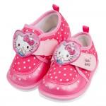 (12.5~14公分)HelloKitty凱蒂貓桃色愛心點點寶寶嗶嗶鞋R#MN3BH*GXX
