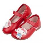 (15.5~19.5公分)HelloKitty凱蒂貓水彩風格紅色兒童公主鞋R#FF2NA*XGX