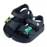 (14~18公分)TOPUONE兩隻小恐龍深藍超輕量兒童涼鞋R#HE3ND*XBX