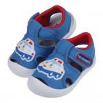(13~16公分)三麗鷗交通小車藍色寶寶透氣護趾涼鞋R#HD3NBBXX