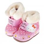 (13~18公分)HelloKitty凱蒂貓童趣點點舖毛寶寶靴