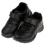(18~23公分)TOPUONE純黑色皮面運動鞋學生鞋