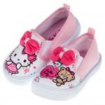 (15~20公分)HelloKItty凱蒂貓與小熊玩偶白色兒童休閒鞋室內鞋