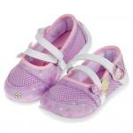 (14~18公分)HelloKItty凱蒂貓春彩蝴蝶紫色透氣兒童休閒鞋