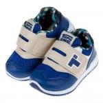 (15~22公分)TOPUONE經典格紋藍色兒童運動鞋