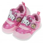 (14~18公分)HelloKitty凱蒂貓繽紛點點桃色小熊兒童休閒鞋
