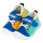 (13~15公分)TOPUONE藍綠黃撞色透氣寶寶學步鞋R#MI3NB*BXX