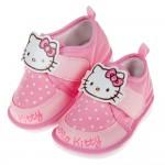 (12.5~15公分)HelloKitty凱蒂貓粉色布質兒童嗶嗶學步鞋