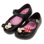 (14~19公分)Disney迪士尼米奇米妮童年玩伴黑色輕便...