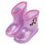 (14~17公分)Disney迪士尼米妮桃色閃亮亮附鞋墊雨鞋...