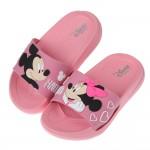 (15~20公分)Disney米奇米妮初戀粉色兒童輕量拖鞋R...