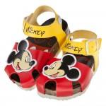 (13~18公分)Disney迪士尼米奇紅色護趾歐風兒童氣墊涼鞋