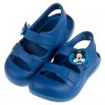 (15~20公分)Disney迪士尼米奇藍色超輕量兒童護趾涼鞋(類布希鞋材質)
