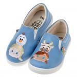 (16~21公分)Disney迪士尼tsumtsum冰雪好朋友藍色兒童帆布休閒鞋