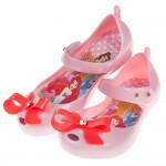 (15~20公分)Disney迪士尼公主蝴蝶結粉色輕便公主涼...