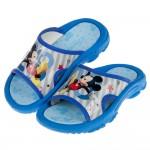 (16~18公分)Disney迪士尼歡樂米奇藍色兒童拖鞋