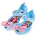 (15~20公分)Disney迪士尼公主蝴蝶結水藍色輕便公主...