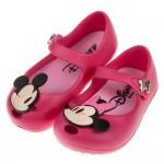 (14~19公分)Disney迪士尼米奇米妮兩小無猜桃色輕便公主涼鞋