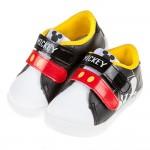 (15~19公分)Disney迪士尼米奇白黑色皮質兒童休閒鞋