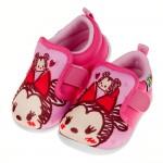 (13~15公分)Disney迪士尼塗鴉Q米妮桃色寶寶休閒鞋