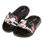 (15~20公分)Disney米老鼠米奇黑色兒童輕量拖鞋R#...