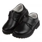 (18~24公分)全真皮制服兒童黑色皮鞋學生鞋P#PF3ND...