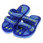 (19~23公分)GP音符DoReMi藍色橡膠兒童雙帶拖鞋I#BN3NB*XXB