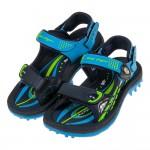 (21.5~25.5公分)GP極度流線磁扣式藍色橡膠兒童運動涼鞋I#HE3NB*XXB
