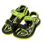 (21.5~25.5公分)GP極度流線磁扣式綠色橡膠兒童運動涼鞋I#HE3NC*XXB