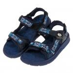 (22~24.5公分)GP綿綿織帶民俗風藍色磁扣式兒童運動涼鞋I#HE3NB*XXB