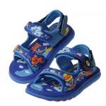 (16~20公分)GP無尾熊天堂磁扣式寶藍色橡膠兒童運動涼鞋I#HE3NB*XBX