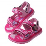 (16~20公分)GP無尾熊天堂磁扣式桃紅色橡膠兒童運動涼鞋I#HE4NH*XBX